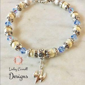 Jewelry - Swarovski Crystal & Faux Pearl Bracelet